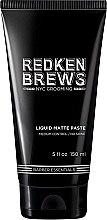 Kup Matowa pasta modelująca do włosów dla mężczyzn - Redken Brews Liquid Matte Paste
