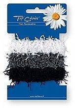 Kup Gumki do włosów 3 szt., biała + czarna + szara, 21671 - Top Choice