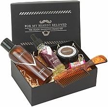 Kup Zestaw - Men Rock Oak Moss Grooming Kit (beard/wash/100ml + beard/oil/30ml + m/wax/25ml + b/comb)