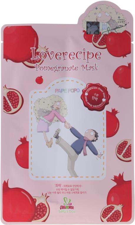 Maska na tkaninie do twarzy z wyciągiem z granatu - Sally's Box Loverecipe Pomegranate Mask