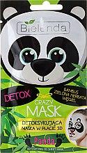 Kup Detoksykująca maska w płacie 3D do twarzy Panda - Bielenda Crazy Mask