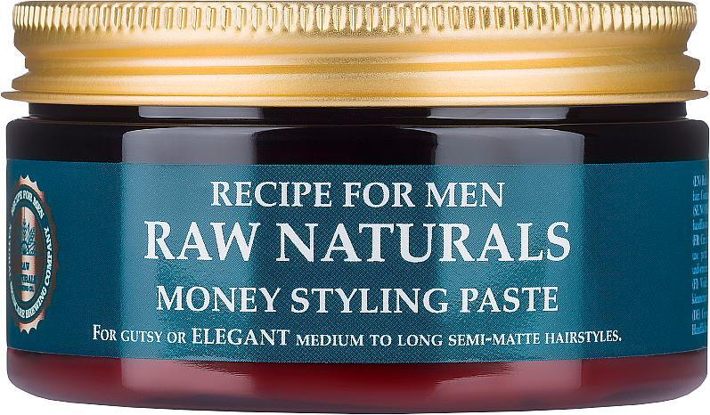 Pasta do stylizacji włosów - Recipe For Men RAW Naturals Money Styling Paste — фото N1