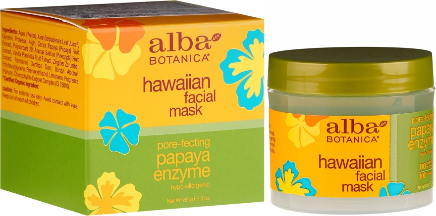 Maska do twarzy Papaja - Alba Botanica Natural Hawaiian Facial Scrub Pore Purifying Pineapple Enzyme — фото N1