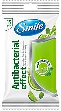 Kup Chusteczki nawilżane z witaminami, 15 szt. - Smile Ukraine Antibacterial
