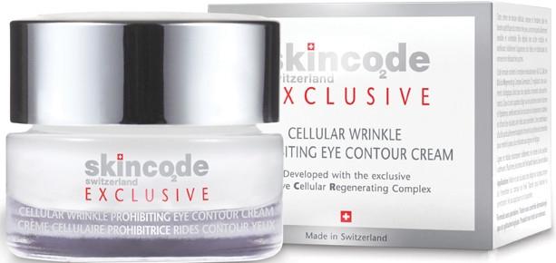 Komórkowy krem do skóry wokół oczu Walka ze zmarszczkami - Skincode Exclusive Cellular Wrinkle Prohibiting Eye Contour Cream — фото N1