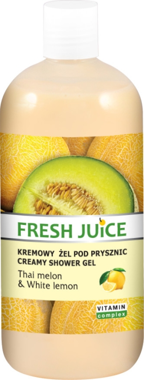 Kremowy żel pod prysznic Tajski melon i biała cytryna - Fresh Juice Thai Pleasure Thai Melon & White Lemon