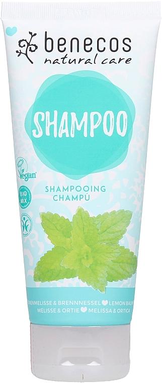 Szampon do włosów Melissa i pokrzywa - Benecos Natural Care Shampoo Melissa & Nettle — фото N1