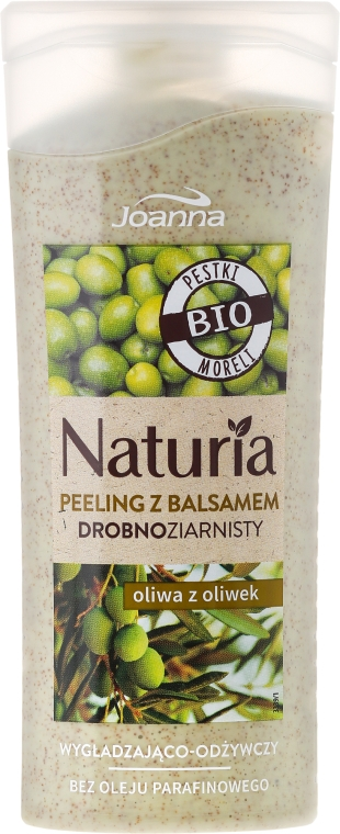 Wygładzająco-odżywczy peeling drobnoziarnisty z balsamem Oliwa z oliwek - Joanna Naturia