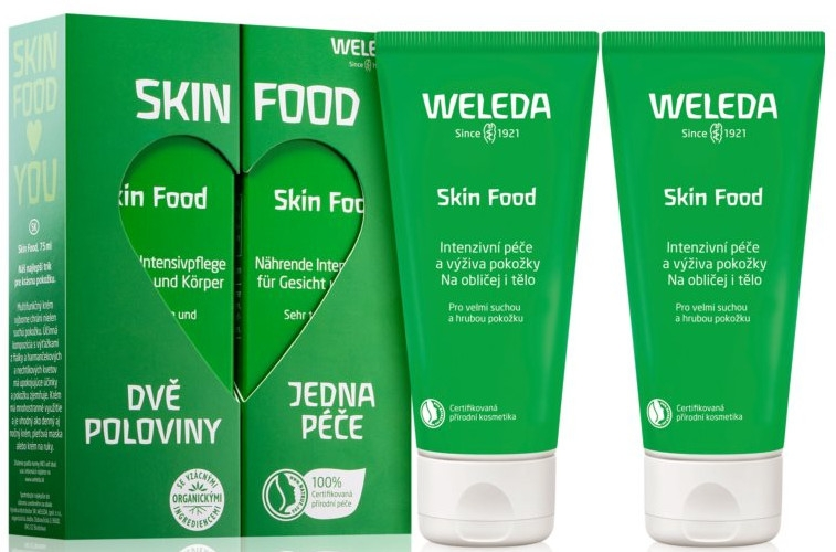 Zestaw - Weleda Skin Food (f/b/cr/75ml + f/b/cr/75ml)