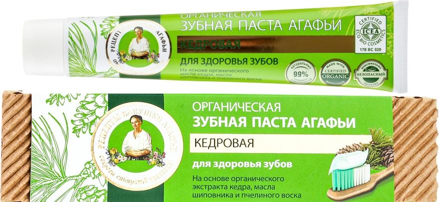 Cedrowa pasta do zębów - Receptury Babci Agafii