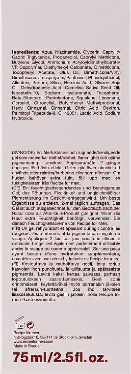 Nawilżająco-łagodzący żel do twarzy dla mężczyzn - Recipe For Men Anti-Redness Gel — фото N3