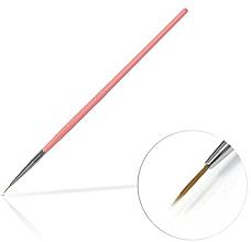 Kup Pędzelek do zdobienie paznokci, 6 mm, różowy - Silcare Brush 0