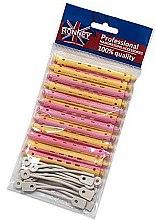 Kup Wałki do zakręcania włosów na zimno 8/91 mm, żółto-różowe - Ronney Professional