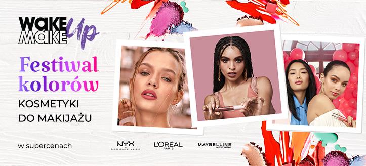 Zniżki na kosmetyki do makijażu L'Oreal Paris, Maybelline, NYX Professional. Ceny na stronie zawierają rabat.