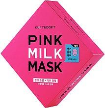 Kup Mleczna maska w płachcie do twarzy - Duft & Doft Pink Milk Mask Tone Up+ Radiance