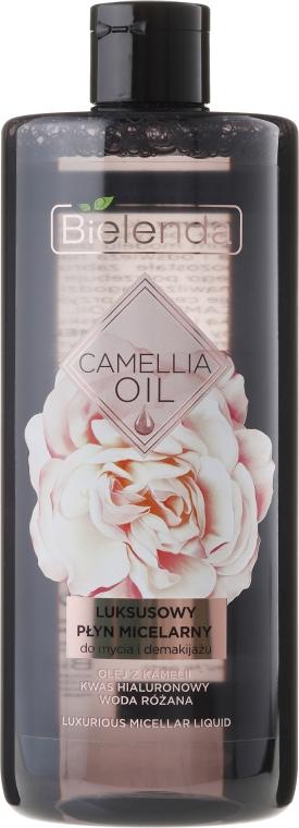 Luksusowy płyn micelarny do mycia twarzy i demakijażu - Bielenda Camellia Oil