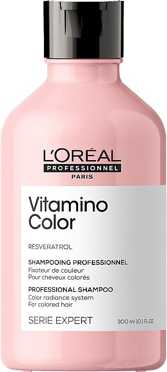 Witaminowy szampon do włosów farbowanych - L'Oreal Professionnel Serie Expert Vitamino Color Resveratrol Shampoo