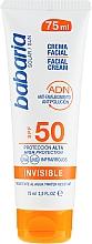Kup Przeciwsłoneczny krem do twarzy SPF 50 - Babaria Invisible Facial Sun Cream