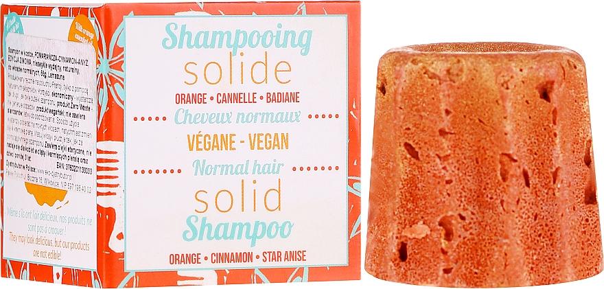 Szampon w kostce do włosów normalnych z Pomarańczą, cynamonem i anyżem - Lamazuna Solid Shampoo For Normal Hair With Orange, Cinnamon & Star Anise — фото N1