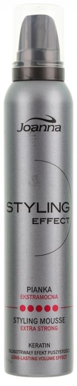 Ekstramocna pianka keratynowa do włosów - Joanna Styling Effect