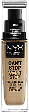 Kup PRZECENA! Podkład do twarzy - NYX Professional Makeup Can't Stop Won't Stop Full Coverage Foundation *
