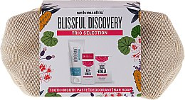Kup Zestaw - Schmidt's Blissful Discovery (t/paste 100 ml + deo 58 ml + soap 142 g + bag)