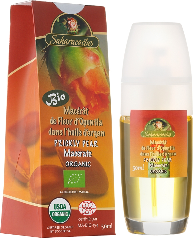 Macerat z kwiatów opuncji w olejeu arganowym - Efas Saharacactus Macerat Opuntia Ficus In Argan Oil