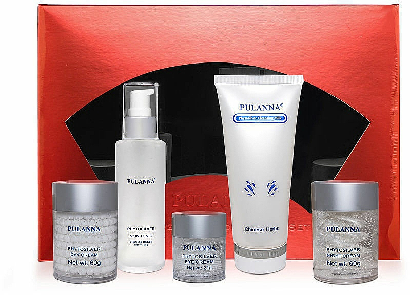 Zestaw - Pulanna Phytosilver (eye/cr/21g + f/cr/2x60g + f/ton/60g + cl/milk/90g) — фото N2