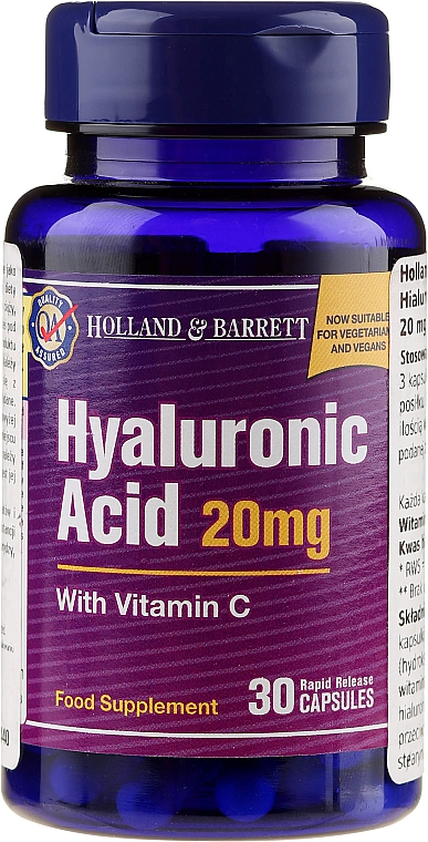 Suplement diety Kwas hialuronowy z witaminą C - Holland & Barrett Hyaluronic Acid With Vitamin C