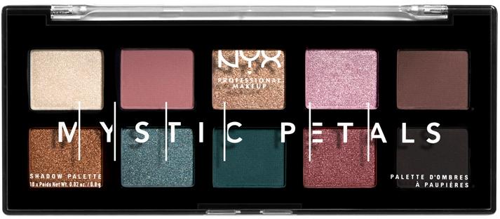 Paleta cieni i pigmentów do oczu i ciała - NYX Professional Makeup Mystic Petals Shadow Palette — фото N1