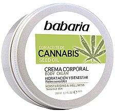 Kup Nawilżający krem do ciała z olejem konopnym - Babaria Cannabis Moisturizing Body Cream