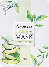 Kup Oczyszczająco-balansująca maseczka do twarzy Zielona herbata i aloes - A:t fox Green Tea & Aloevera Mask