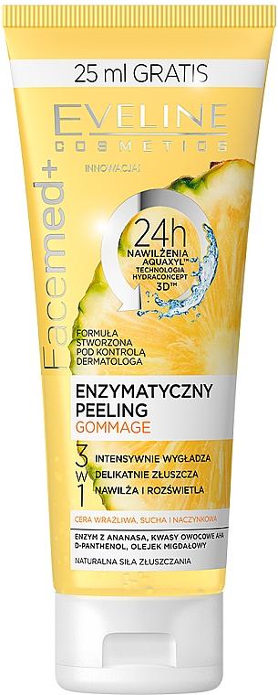 Enzymatyczny peeling gommage 3 w 1 - Eveline Cosmetics Facemed+