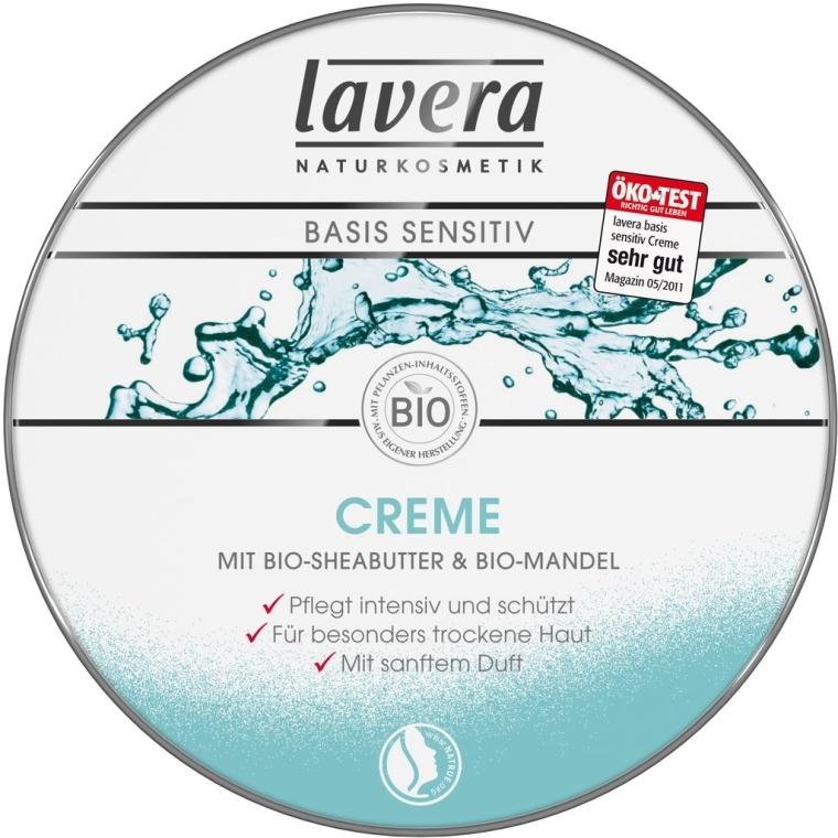 Krem pielęgnacyjny z masłem shea i olejem ze słodkich migdałów - Lavera Naturkosmetik Basis Sensitiv Creme