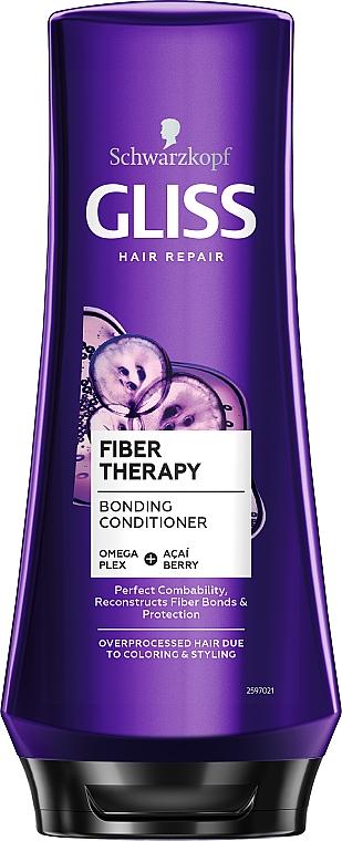 Odżywka do włosów przeciążonych koloryzacją lub zabiegami stylizacyjnymi - Schwarzkopf Gliss Kur Fiber Therapy Conditioner — фото N1