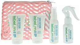 Kup Zestaw - Label.m Sun Edition Summer Mini Set (shm/60ml + mask/60ml + spray/60ml + oil/60ml + bag)