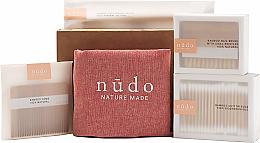 Kup Zestaw - Nudo Nature Made Bamboo Essentials (cotton buds 200 pcs + h/brush + n/brush + toothbrush + bag)