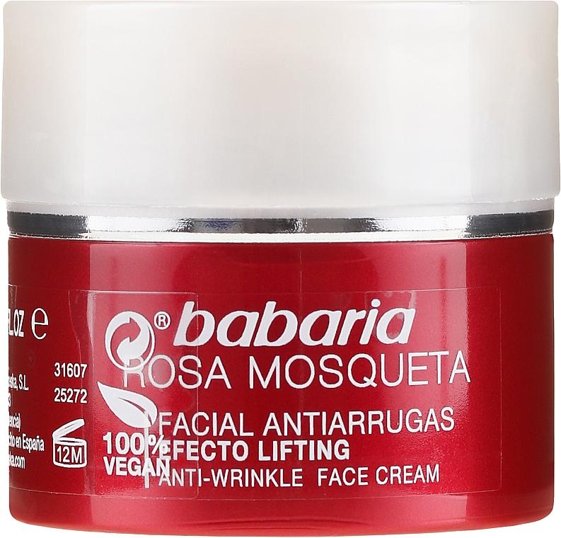 Przeciwzmarszczkowy krem do twarzy - Babaria Rosa Mosqueta Anti-Wrinkle Face Cream — фото N2