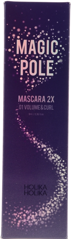 Pogrubiający tusz do rzęs - Holika Holika Magic Pole Mascara 2X Volume & Curl — фото N2
