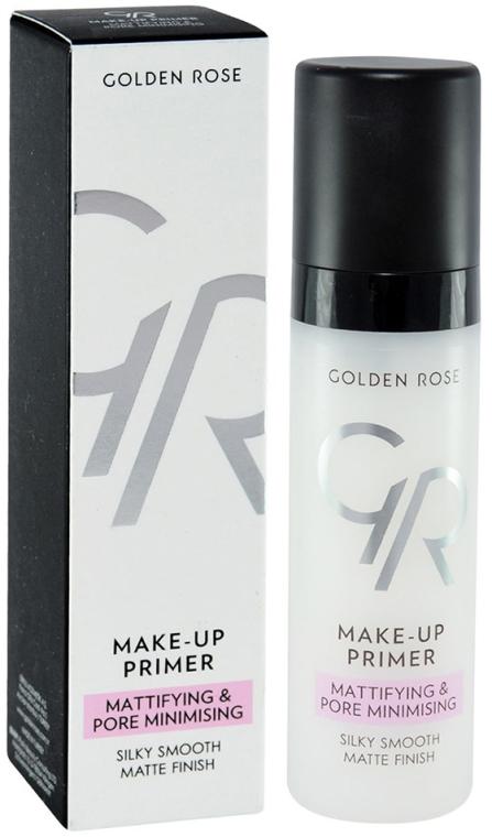 Matująca baza pod makijaż zmniejszająca widoczność porów - Golden Rose Make-Up Primer Mattifying & Pore Minimising
