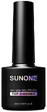 Kup Top z drobinkami na lakier hybrydowy - Sunone Top Shimmer