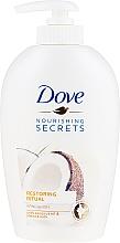 Kup Mydło w płynie do rąk z olejem kokosowym i mleczkiem migdałowym - Dove Nourishing Secrets Restoring Ritual Hand Wash