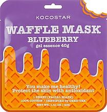 Kup Maska na tkaninie Świeża jagoda - Kocostar Blueberry Waffle Mask