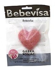 """Kup Gąbka konjac do mycia twarzy, serce """"Róża"""" - Bebevisa Konjac Sponge"""