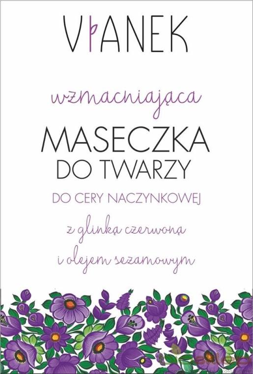 Wzmacniająca maseczka do twarzy - Vianek Seria fioletowa kojąca
