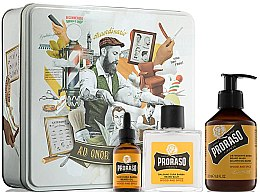 Kup Zestaw - Proraso Wood & Spice Beard Kit (balm/100ml + shmp/200ml + oil/30ml)