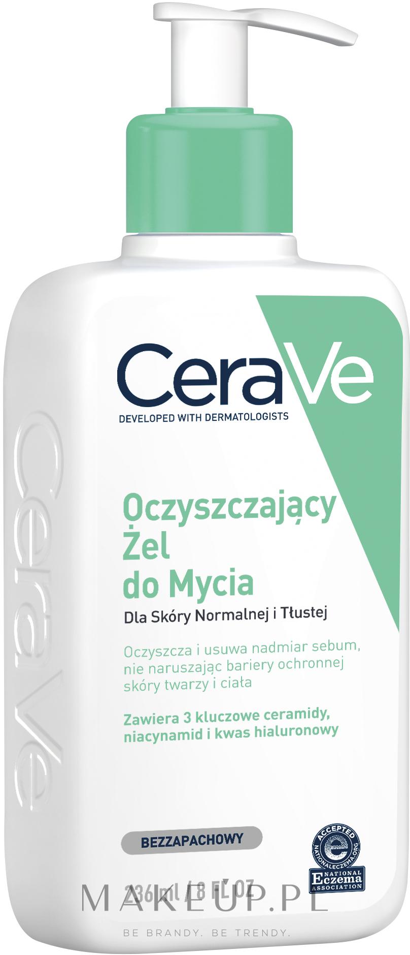 Pieniący się żel oczyszczający do twarzy i ciała do skóry normalnej i tłustej - CeraVe Foaming Cleanser — фото 236 ml