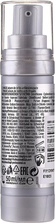 Nabłyszczające serum do włosów puszących się - Schwarzkopf Professional Osis+ Magic Finish Anti-Frizz Shine Serum — фото N2