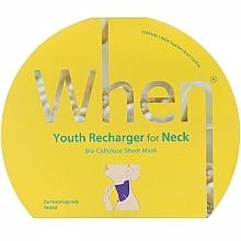 Kup Biocelulozowa maska przeciwstarzeniowa na szyję - When Youth Recharger For Neck Bio-Cellulose Mask