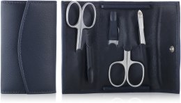 Kup Zestaw do manicure'u 5 przedmiotów, niebieski, 3540-0904 - Hans Kniebes Solingen